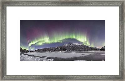 Northern Lights Panoramic Framed Print
