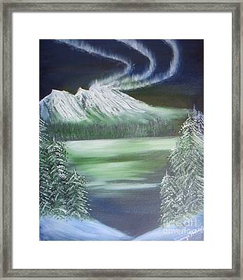 Northern Lights Framed Print by Saranya Haridasan