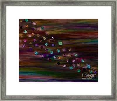 Northern Lights Framed Print by Shiela  Mahaney