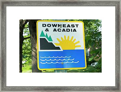 Northern Maine, Road Down East Framed Print by Bill Bachmann