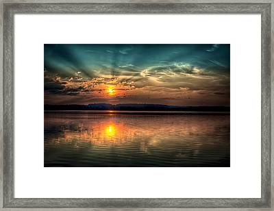 Northern Maine Sunrise Framed Print