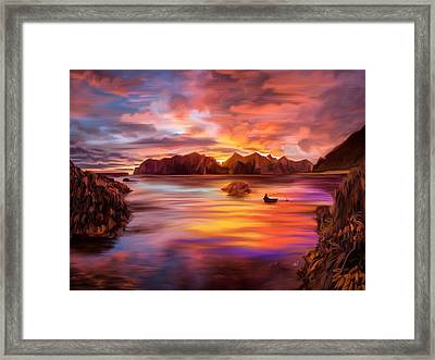 Northern Norway - Ipad Version Framed Print by Angela A Stanton