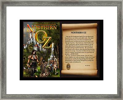 Northern Oz Cover And Intro 48 Framed Print by Vjkelly Artwork