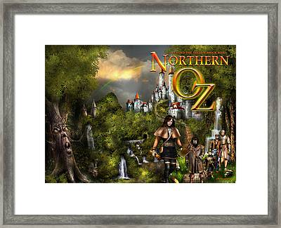 Northern Oz Front And Back Cover 1 Framed Print by Vjkelly Artwork