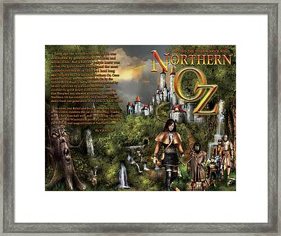 Northern Oz Front And Back Cover 2 Framed Print by Vjkelly Artwork