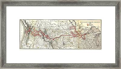 Northern Pacific Railway Map  1900 Framed Print