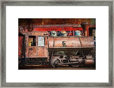 Northern Pacific Vintage Locomotive Train Engine Framed Print