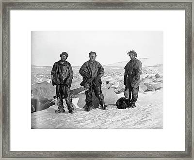 Northern Party Antarctic Explorers Framed Print by Scott Polar Research Institute