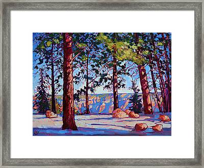 Northern Rim Framed Print by Erin Hanson