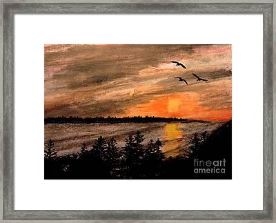 Northern Shore  Framed Print