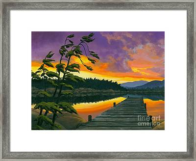 After Glow - Oil / Canvas Framed Print