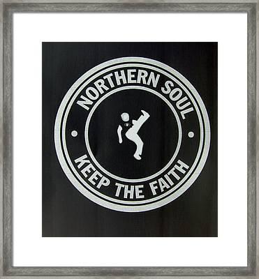 Northern Soul Dancer Inverted Framed Print