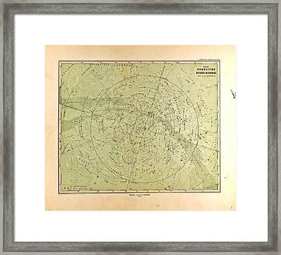 Northern Star Skygotha Justus Perthes 1872 Atlas Framed Print