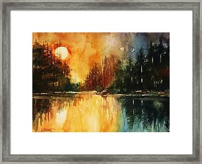 Northern Sunset Framed Print by Al Brown