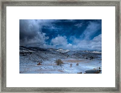 Northern View From Horsetooth Reservoir Framed Print by Harry Strharsky