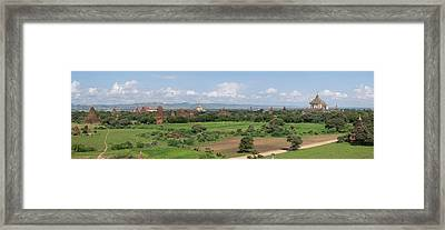 Northern View Of Stupas And Temples Framed Print by Panoramic Images