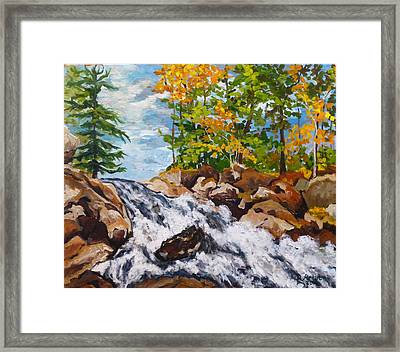 Northern Waterfall Framed Print
