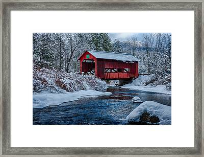 Northfield Vermont Covered Bridge Framed Print