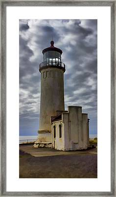 North Head Lighthouse Framed Print by Cathy Anderson