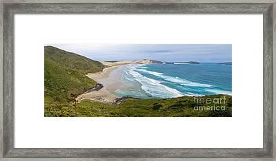 Northland Sand Beach Near Cape Reinga New Zealand Framed Print by Stephan Pietzko