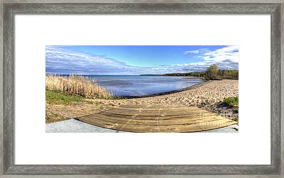 Northport Beach Framed Print