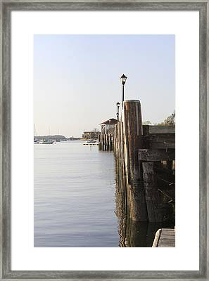 Northport Dock A Different Perspective Framed Print