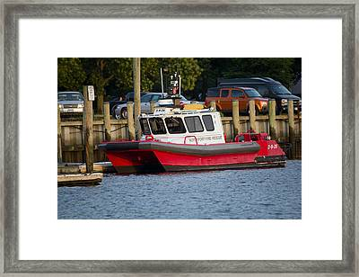 Northport Fire Boat Long Island New York Framed Print