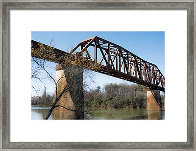 Northport Trestle Over The Tuscaloosa River Framed Print by Parker Cunningham