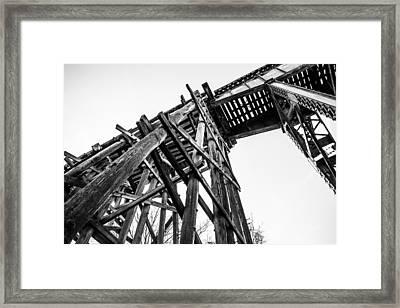 Northport Trestle Framed Print by Parker Cunningham