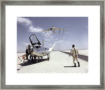 Northrop Hl-10 And B-52 Aircraft Framed Print by Nasa