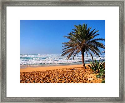 Framed Print featuring the photograph Northshore Beach by Kristine Merc