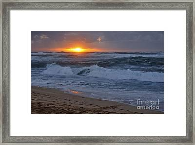 Framed Print featuring the photograph Northshore Nightfall by Gina Savage
