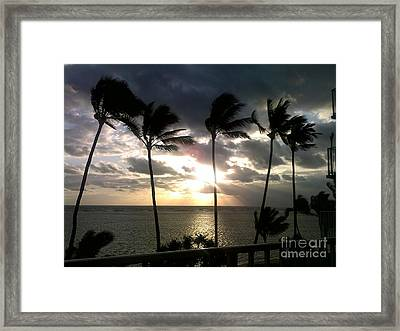 Framed Print featuring the photograph Northshore Sunrise by Brigitte Emme