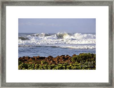 Framed Print featuring the photograph Northshore Surf by Gina Savage