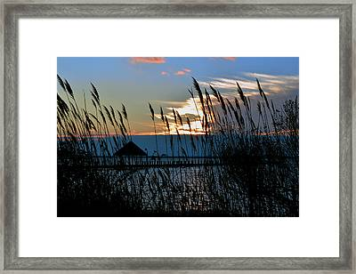 Framed Print featuring the photograph Ocean City Sunset At Northside Park by Bill Swartwout