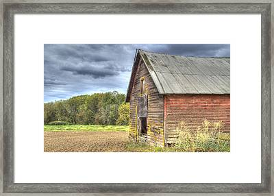 Northwest Barn Framed Print by Jean Noren