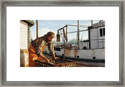 Northwest Fisherman Framed Print
