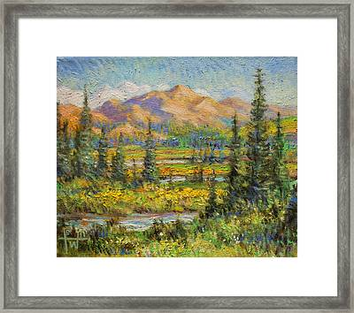 Northwest In The Rockies Framed Print by Henry Potwin