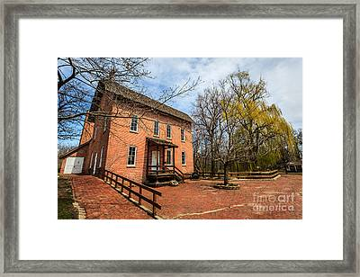 Northwest Indiana Grist Mill Framed Print by Paul Velgos