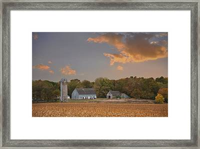 Northwest Iowa Farmscape Framed Print