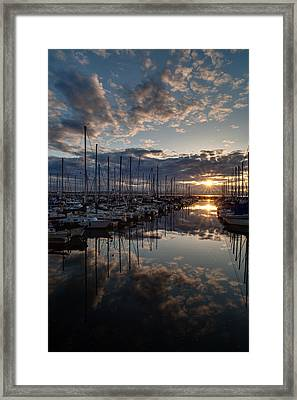 Northwest Sunset Marina Framed Print