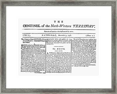 Northwest Territory, 1793 Framed Print by Granger
