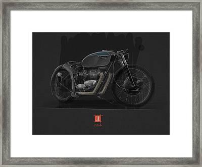 Norton Bobber Framed Print