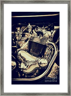 Norton Commando 750cc Engine Framed Print by Tim Gainey
