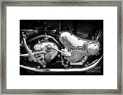 Norton Commando 850 Engine Framed Print by Tim Gainey