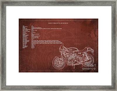 Norton Commando 961 Cafe Racer 2011 Technical Specifications Framed Print