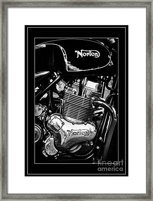 Norton Commando 961 Sport Monochrome Framed Print