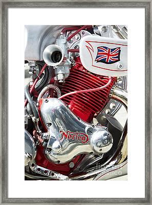Norton Custom Cafe Racer Engine Framed Print