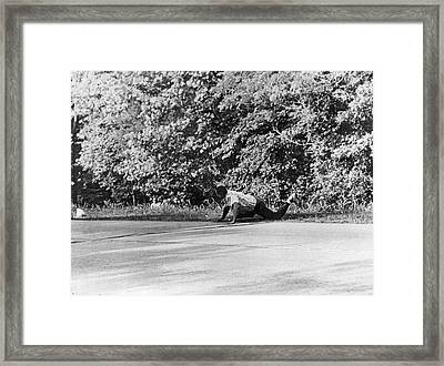 Norvell Ambushes Meredith Framed Print by Underwood Archives