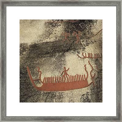 Norway. Begby. Boats 1000 Bc. Bronze Framed Print by Everett